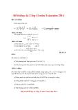 Đề thi kiểm tra học kì II môn Toán lớp 11 năm học 2014  - Đề tham khảo