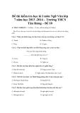 Đề thi kiểm tra học kì I môn Ngữ Văn lớp 7 năm học 2013 -2014 – Trường THCS Tân Hưng – Đề 10