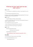 Đề thi học kì 2 lớp 7 môn Ngữ Văn năm 2014 - Đề số 1