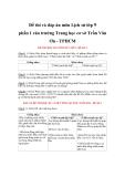 Đề thi và đáp án học kì II môn Lịch Sử lớp 9 - Trường THCS Trần Văn Ơn - Đề 1