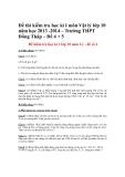 Đề thi kiểm tra học kì I môn Vật lý lớp 10 năm học 2013 -2014 – Trường THPT Đồng Tháp – Đề 4, 5
