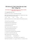 Đề thi học kì 2 lớp 9 môn Hóa học năm 2014 - Trường THCS Phước Thiên - Nhơn Trạch -Đồng Nai