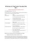 Đề thi học kì 2 lớp 8 môn Văn năm 2014 - Đề 1