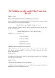 Đề Thi kiểm tra giữa học kì 2 lớp 9 môn Văn - Đề số 1