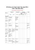 Đề thi học kì 2 lớp 8 môn Văn năm 2014 THCS Bùi Hữu Diên