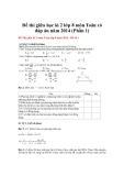 Đề thi giữa học kì 2 lớp 8 môn Toán có đáp án năm 2014 - Đề 1