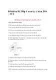 Đề thi học kì 2 lớp 9 môn vật lý năm 2014 – Đề 1