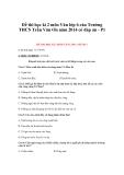 Đề thi học kì 2 môn Văn lớp 6 của Trường THCS Trần Văn Ơn năm 2014 có đáp án -Đề 1