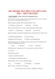 Đề thi kiểm tra học kì II môn Văn học lớp 6 năm học 2014 - Trường THCS Trà Dơn