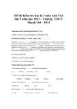 Đề thi kiểm tra học kì I môn Anh Văn lớp 9 năm học 2013 – Trường THCS Thanh Oai – Đề 5