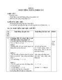 Giáo án Toán 1 chương 2 bài 11: Phép cộng trong phạm vi 8