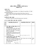 Giáo án Toán 1 chương 2 bài 17: Bảng cộng và bảng trừ trong phạm vi 10