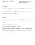 Đề thi HK2 Vật lí 11 (2012-2013) - THPT An Phước