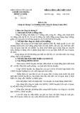 Báo cáo chi bộ Công tác tháng 3 và chương trình công tác tháng 4 năm 2014
