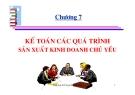 Bài giảng Nguyên lý kế toán: Chương 7 - Nguyễn Kim Nam