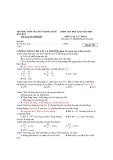 Đề kiểm tra học kì II môn Vật lý lớp 10 năm học 2011- 2012 - Trường THPT Nguyễn Trung Trực - Mã đề 251