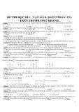 Đề thi kiểm tra học kì I môn Vật lý lớp 10 - Ban cơ bản