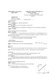 Đề thi kiểm tra học kì I môn Vật lý lớp 10 năm học 2012 - 2013 - Đề đề xuất