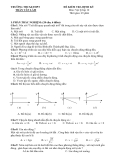 Đề thi kiểm tra định kỳ môn Vật lý lớp 10 - Trường THCS & THPT Trần Văn Lâm