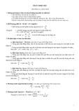 Đề cương ôn tập môn Vật lý lớp 10 - Chương I: Chất khí và Nhiệt học
