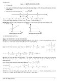 Đề cương ôn tập lý thuyết  học kì I môn Vật lý lớp 10 - Cơ bản