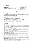 Đề thi kiểm tra chất lượng học kì I môn Vật lý lớp 10 - Sở GD & ĐT Đồng Tháp - Trường THPT Phan Văn Bảy