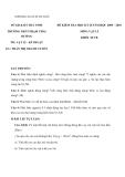 Đề và đáp án thi học kì II môn Vật lý lớp 10 năm học 2009 - 2010 -  Trường THPT Phạm Thái Bường