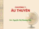 Bài giảng Công trình trên hệ thống thủy lợi: Chương 7 - ThS. Nguyễn Thị Phương Mai