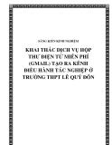 SKKN: Khai thác dịch vụ hộp thư điện tử miễn phí (gmail.com) để tạo ra kênh điều hành tác nghiệp ở trường THPT Lê Quý Đôn