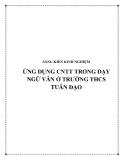 SKKN: Ứng dụng CNTT trong dạy Ngữ Văn ở trường THCS Tuân Đạo