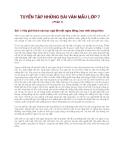 Tuyển tập văn mẫu lớp 7 (Phần 1)