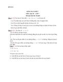 Đề kiểm tra 1 tiết Toán lớp 9 - (Kèm đáp án)