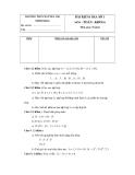 Đề kiểm tra 1 tiết Toán 6 - THCS Nguyễn Thị Minh Khai (2011-2012) (Kèm đáp án)