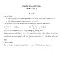 Đề kiểm tra 1 tiết HK2 môn Toán lớp 9 - (Kèm đáp án) đề số 20