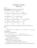 Đề kiểm tra 1 tiết HK2 Toán lớp 9 - (Kèm đáp án)