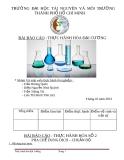 Báo cáo: Thực hành hóa đại cương - ĐH Tài nguyên và môi trường TP. HCM