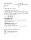 Đề kiểm tra 1 tiết HK1 Tiếng Anh 6