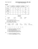 Đề kiểm tra 1 tiết HK2 Tiếng Anh 6