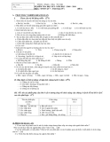 Đề kiểm tra học kỳ 1 môn Sinh Vật lớp 7 - Trường THCS Phan Chu Trinh