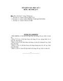 Đề thi kiểm tra học kỳ 1 môn Mĩ thuật lớp 9 Trường THCS Lê Quý Đôn