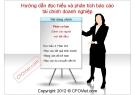Bài giảng Hướng dẫn đọc và hiểu phân tích báo cáo tài chính doanh nghiệp