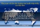 Bài giảng Tổng quan về Cán cân thương mại (xuất nhập khẩu) của Việt Nam