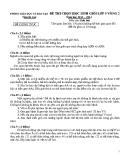 Đề thi HSG cấp huyện vòng 2 Sinh 9 (2013 - 2014) - Phòng GD&ĐT Thanh Oai - (Kèm Đ.án)