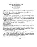 Đề thi HSG cấp huyện Hóa học 9  - (kèm Đ.án)