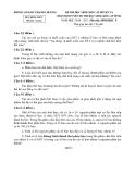2 đề thi chọn HSG cấp huyện Sinh 9 - (Kèm Đ.án)