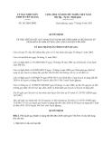 Quyết định 341/QĐ-UBND năm 2013