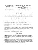 Quyết định Số: 26/2013/QĐ-UBND tỉnh Lai Châu