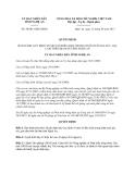 Quyết định 50/2013/QĐ-UBND tỉnh Nghệ An