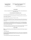 Quyết định 22/2013/QĐ-UBND tỉnh Kiên Giang