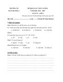 12 Đề KSCL Toán & Tiếng Việt 4 (2012-2013) - Trường TH Xuân Hương 1 - Tuần 10 đến tuần 21 (Kèm hướng dẫn chấm)